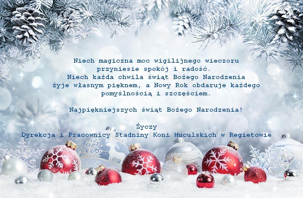 Boże Narodzenie życzenia