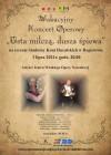 plakat Usta milcza, dusza spiewa z logo Malopolski